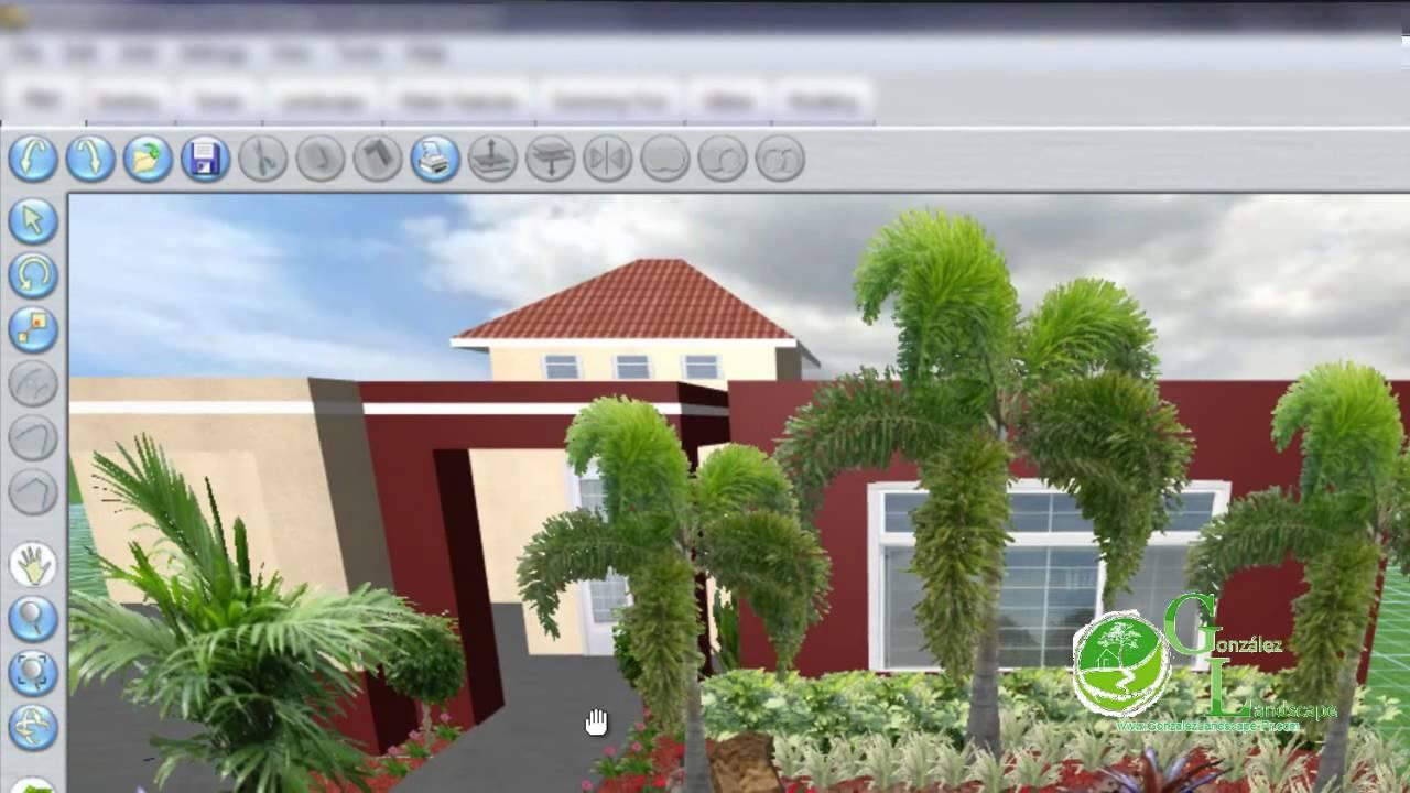 Gonzalez landscape example 3d landscape youtube for Jardin xanadu puerto rico