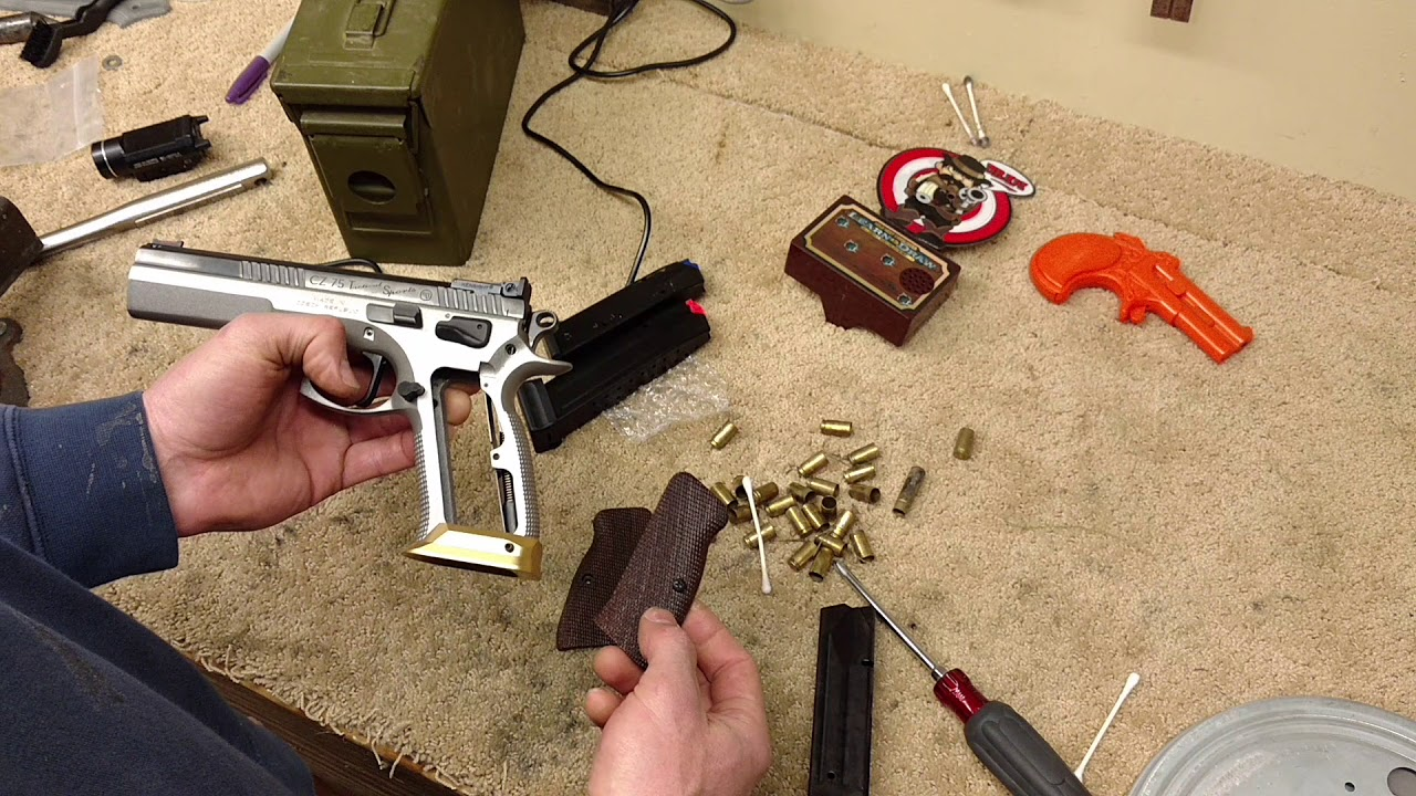 CZ tactical sports brass magwell and magazine differences among CZ pistols