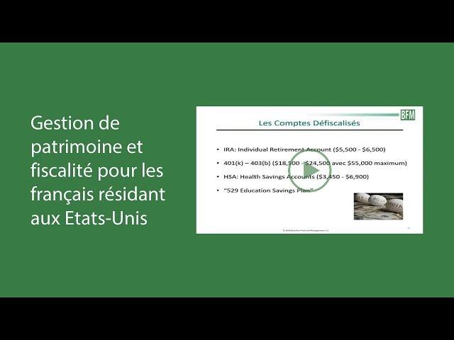 Patrick Bourbon - Gestion de patrimoine et fiscalité pour les français aux Etats-Unis