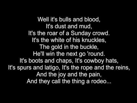 Garth Brooks - Rodeo (Cover) - Lyric Video (1991)