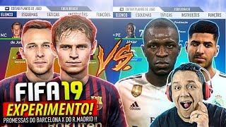 Futuro BARCELONA VS Futuro REAL MADRID!! Quem VENCERIA?! FIFA 19 EXPERIMENTO