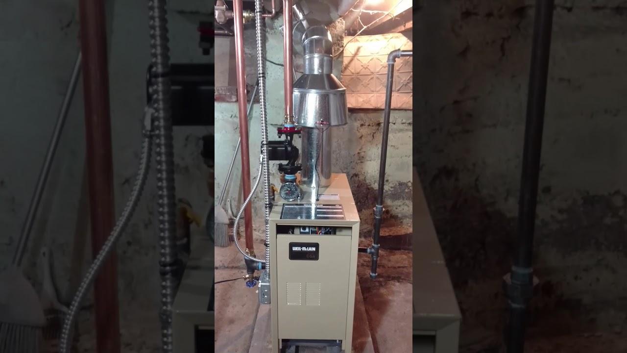 Weil-Mclain boiler install on
