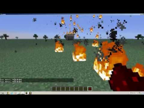 minecraft ateş topu atma