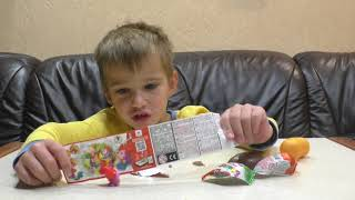 Киндер Сюрприз Обзор Игрушки Сова Распаковка Шоколадного Яйца Видео Для Детей