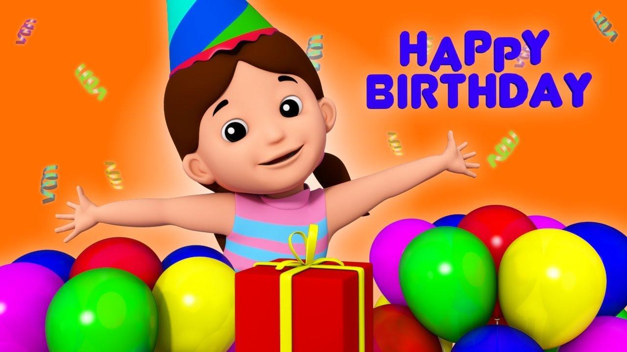 Happy Birthday Birthday Song Nursery Rhymes Childrens Song 3d Rhymes Kids Tv Youtube