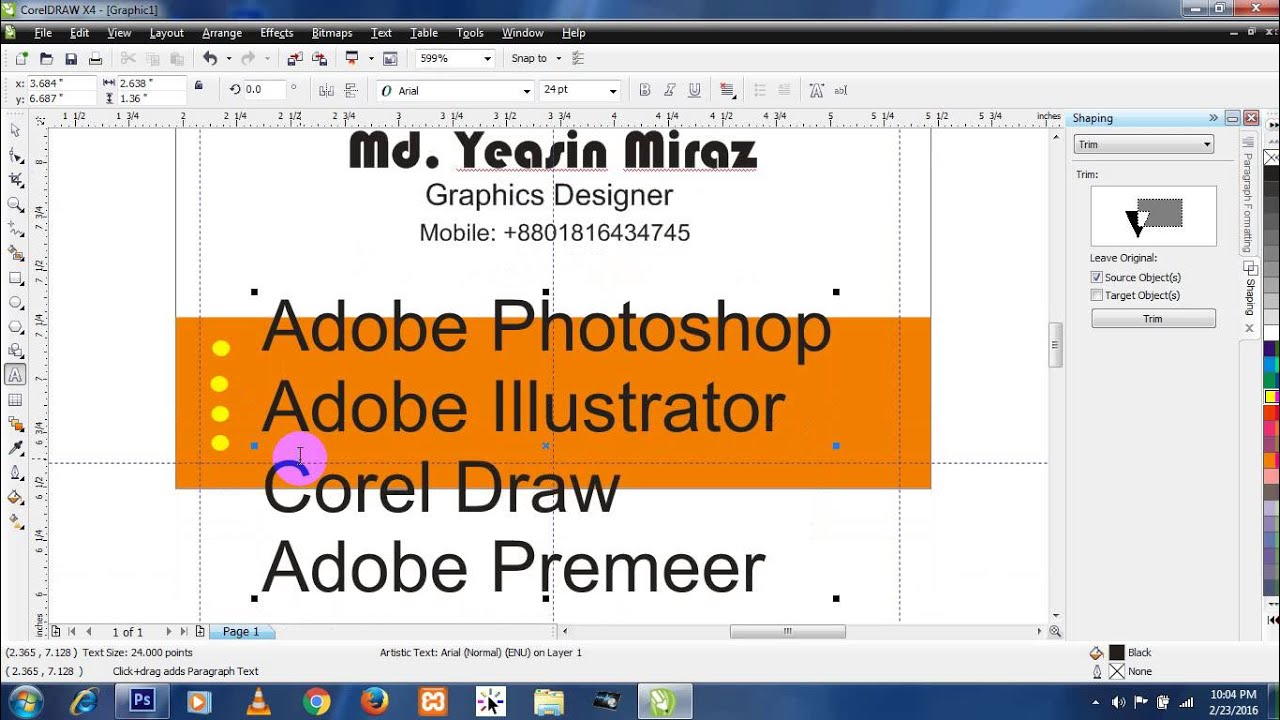 Coreldraw x4 windows 10 - Corel Draw X4 Business Card