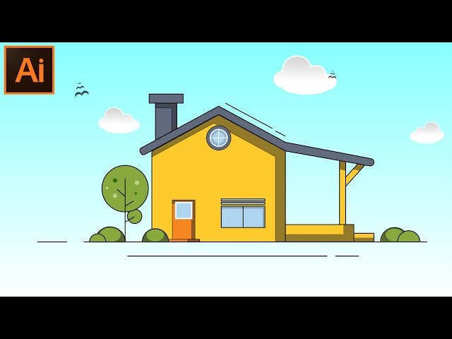 How to Create a Beautiful Flat House Design in Adobe Illustrator CC