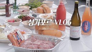 싱가포르 vlog | 바베큐 파티, 요리하고 외식하는…