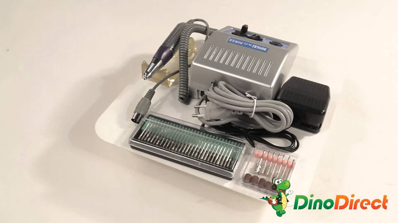 Electric Nail Manicure Pedicure Drill File Tool Kit A2505000BN - YouTube