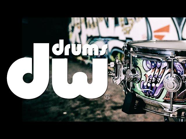 Jean-Philippe Fanfant et sa caisse claire béton DW drums