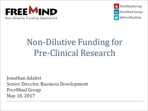 Non-Dilutive Funding Opportunities for Pre-Clinical Stage Re