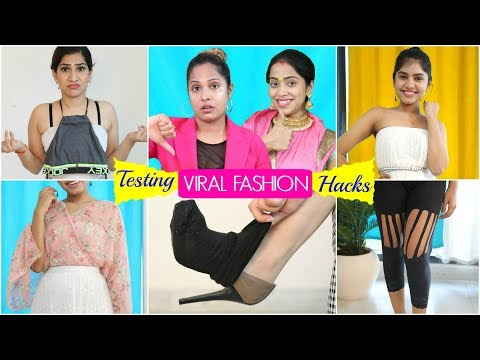 testing-viral-fashion-hacks-|-#beauty-#fun-#shrutiarjunanand-#anaysa