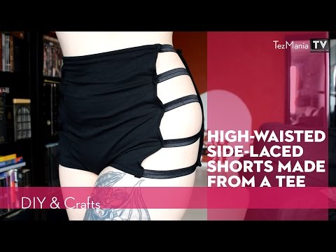 Highwaisted sidelaced hotpants from tee
