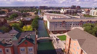 Indianapolis Downtown Canal Drone Footage