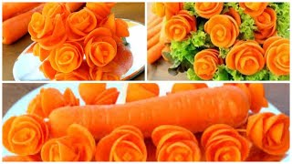 Super Salad Decoration Ideas - Carrot Rose Carving Garnish