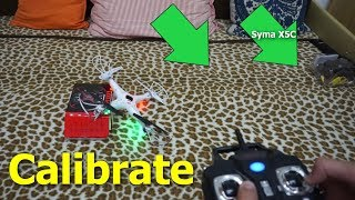 How to calibrate quadcopter (Syma X5C Basic Tutorial)