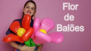FLOR DE BALÕES - ESCULTURA COM BALÕES/balloon flower