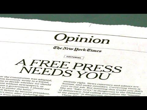 Attaqués par Trump, les journaux défendent leur liberté
