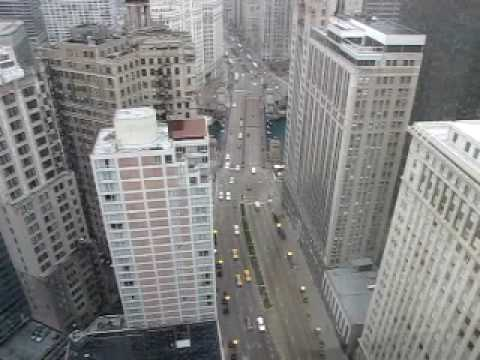 Michigan Ave Chicago from Hard Rock Hotel