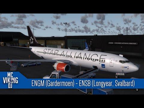 [P3D] SAS4599 | ENGM (Gardermoen) - ENSB (Longyear, Svalbard) | VATSIM | Aerosoft Svalbard