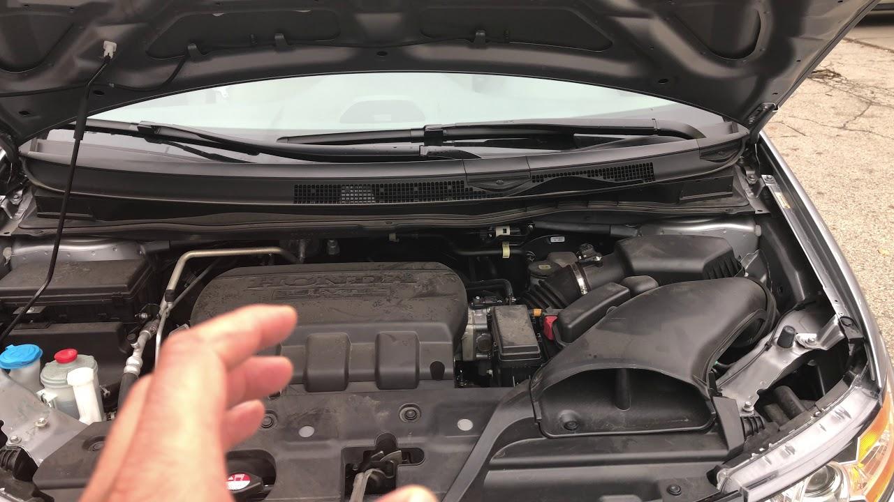 2017 Honda Odyssey >> COOLANT RESERVOIR LOCATION - HONDA ODYSSEY - YouTube