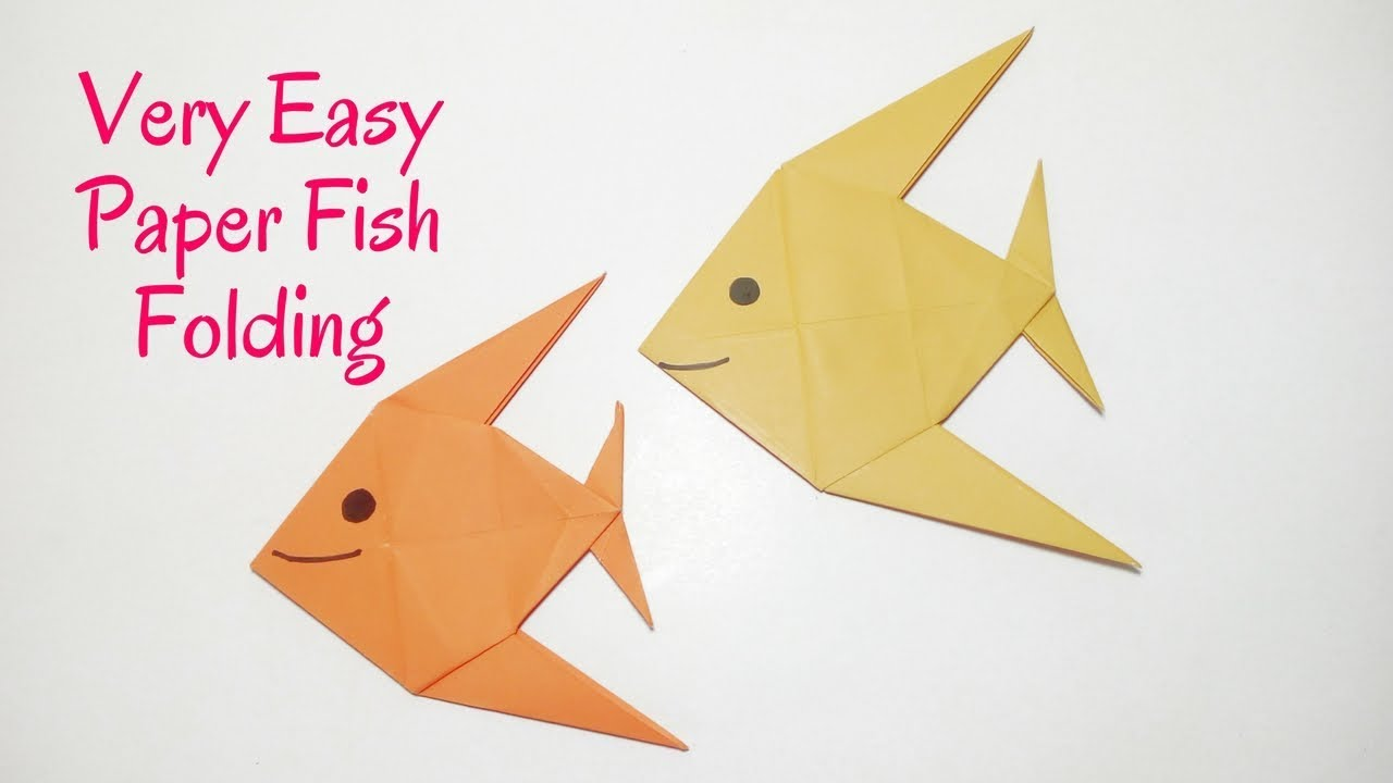 Easy origami fish how to make a paper fish diy origami for How to make fish