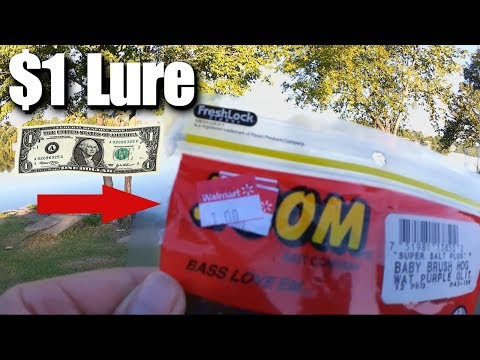 Using a $1 FISHING LURE on a $15 COMBO from WalMart