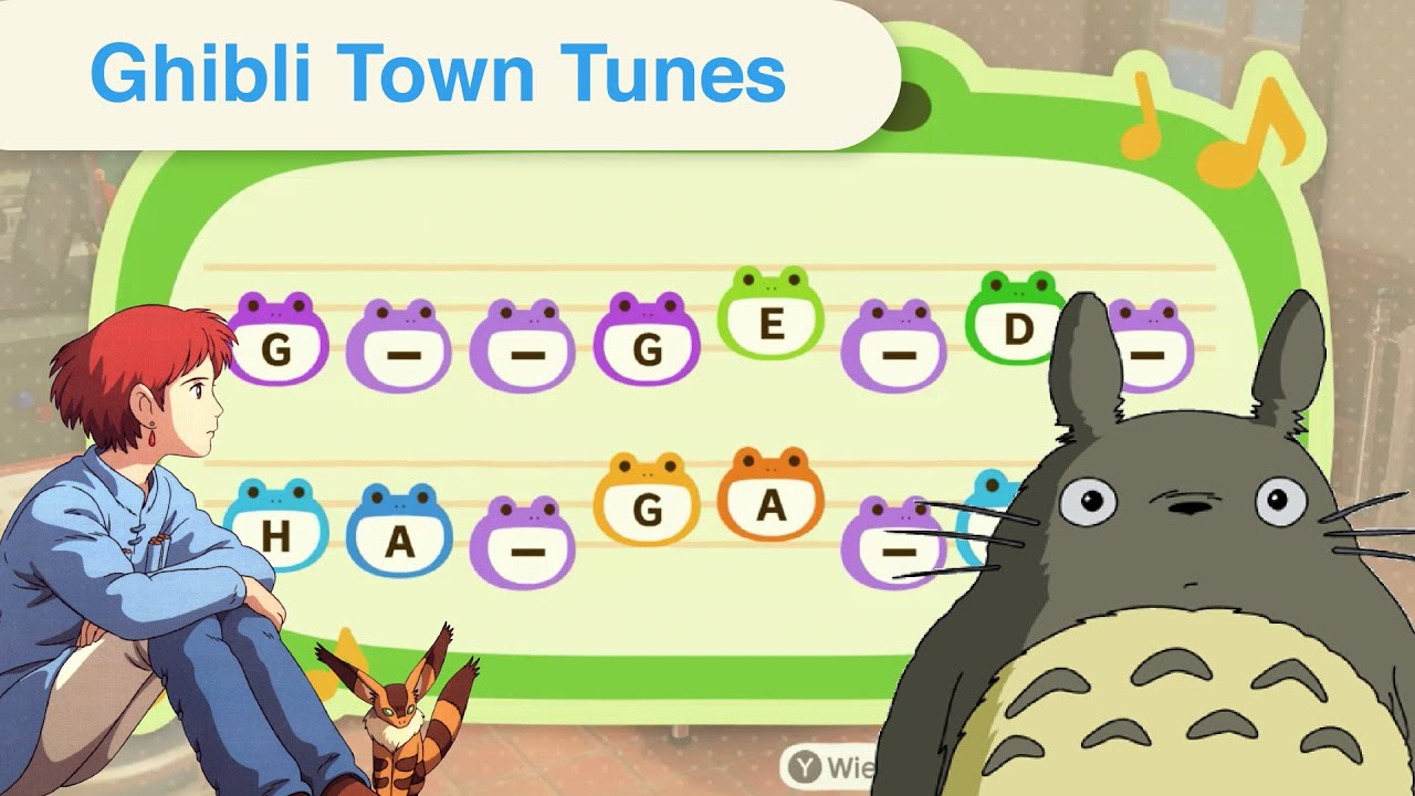 10 Popular Studio Ghibli Melodies For Animal Crossing New Horizons Town Tunes Youtube