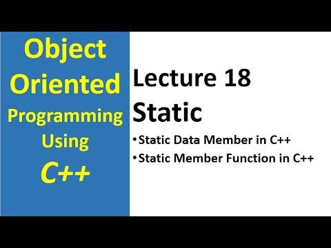 C tutorials on static member function static data member c
