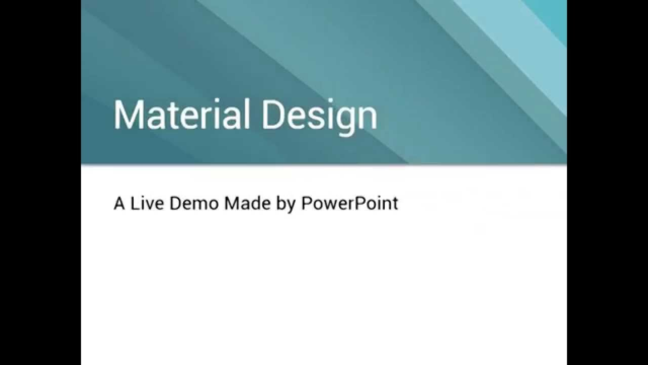 powerpoint tries to do material design youtube