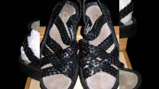 CLARKS SANDAL WOVEN LEATHER BLACK 7.5 M SUMMER COMFORT!