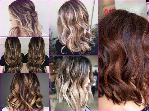 2018 Hottest  Balayage Hair Color Ideas With Caramel, Blonde And Brown Highlights
