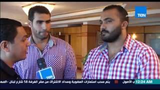 مساء الانوار - تقرير- جامعة الفيوم تكرم ابطال مصر فى رياضة رمى الرمح