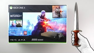 "Baixar Xbox One X ""Battlefield V"" Console Unboxing (Gold Rush Special Edition Bundle)"