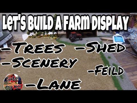 Let's Build a Farm Display | Trees, Scenery, Barn, Lane, Field 1/64