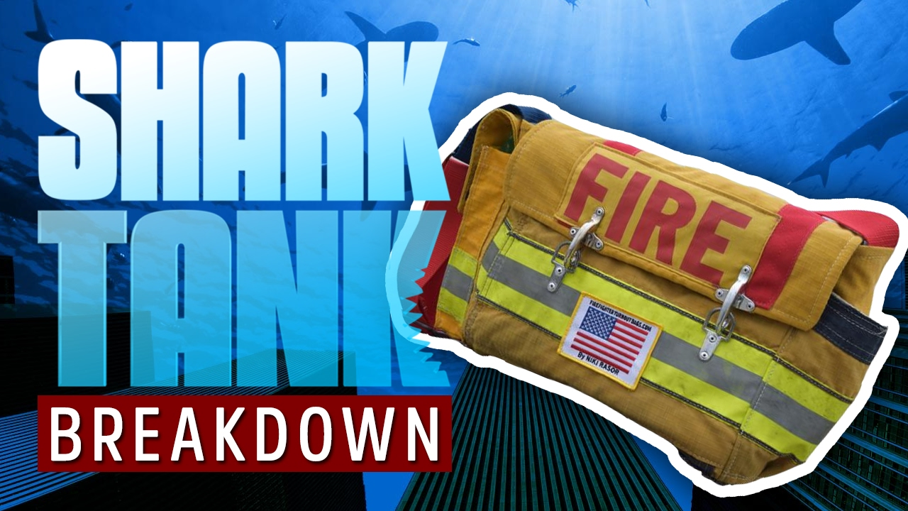 Recycled bunker gear bags - Firefights Turnout Bags Shark Tank Breakdown Functional Bags Made From Turnout Gear