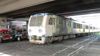 フィリピン国鉄南方線DMR1 ブルメントリット駅到着 PNR Metro South Commuter Train