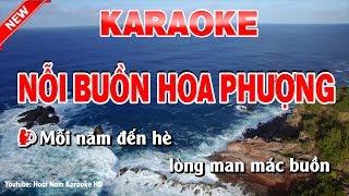 Karaoke Nỗi Buồn Hoa Phượng - noi buon hoa phuong karaoke nhac song