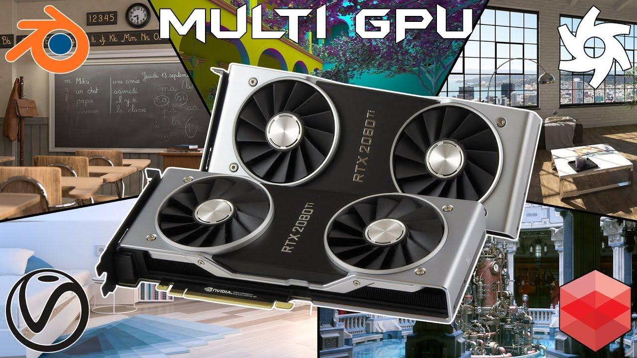 GPU rendering - RTX 2080 Ti | TITAN V | GTX 1080 Ti - V-Ray, Redshift,  Octane, Blender, OptiX