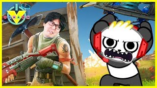 VTubers Ryan's Daddy Vs. Combo Panda Let's Play Fortnite BATTLE ROYALE Top Team!