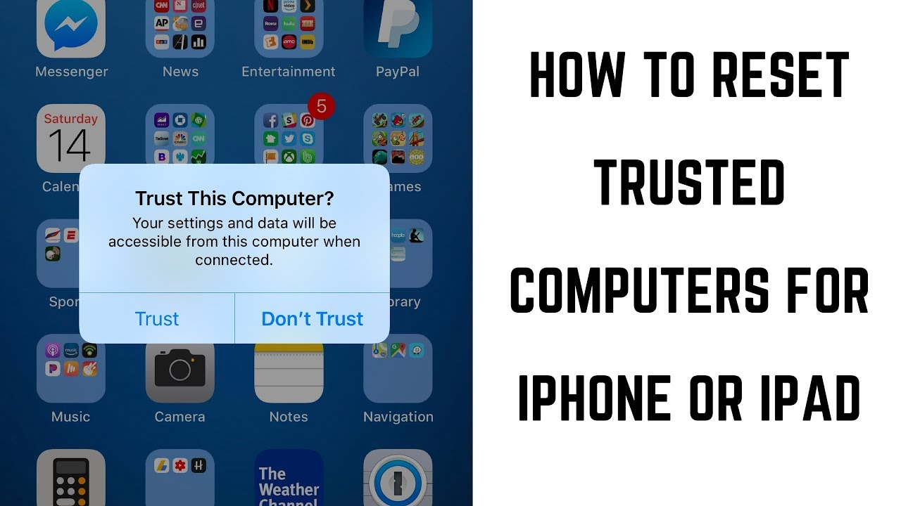 How to Reset Trusted Computers for iPhone or iPad