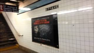 67th Avenue Subway Station (E,M,R lines. Forest Hills, Queens NYC 2014)
