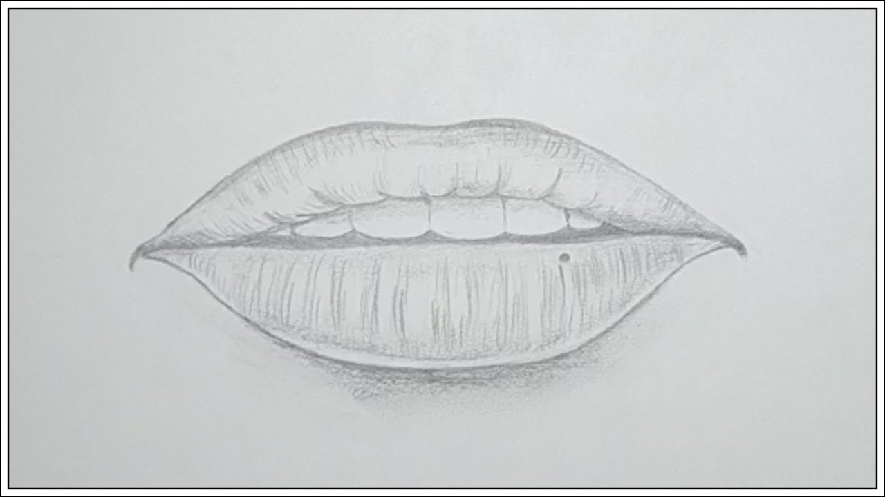 How to Draw Realistic Lips & Mouth | Pencil Sketch | Step ...