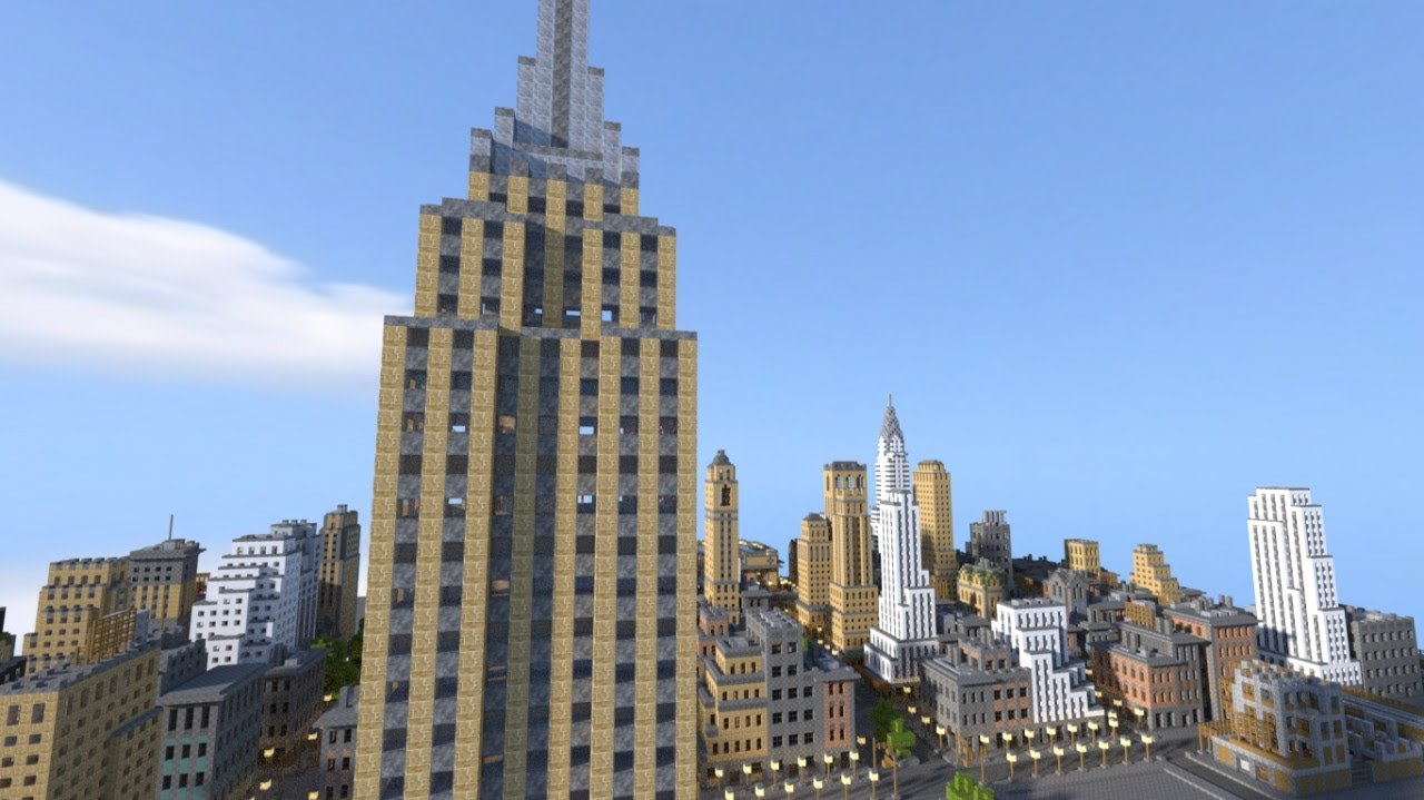 New York In Minecraft Hd 1080p Download Official By