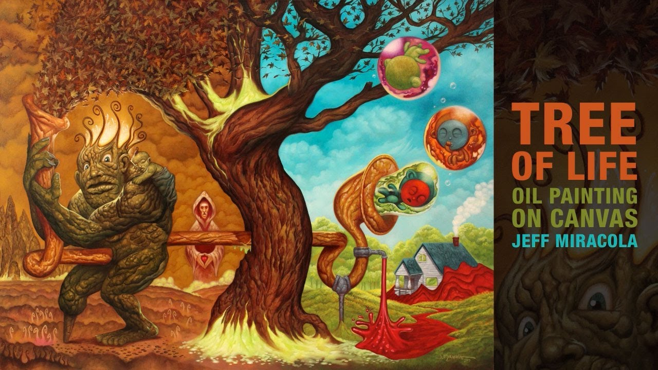 Tree Of Life Oil Painting By Fantasy Artist Jeff Miracola Youtube