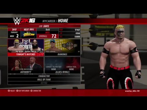 WWE 2K16 My Career Mode Livestream! w/'The Scorpion' Leo Davis! Part 8!