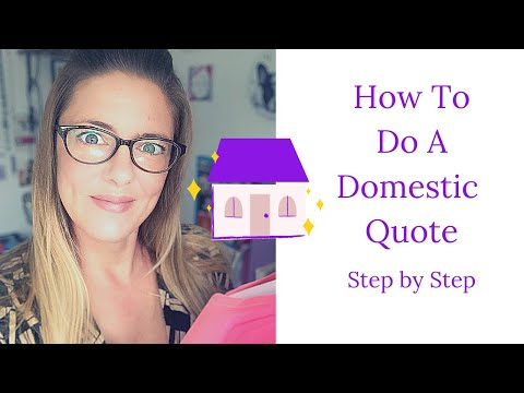 How To Do A Domestic Quote   Cleaning Business Step by Step