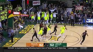 Oklahoma State at Baylor Men's Basketball Highlights