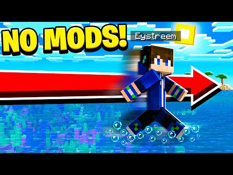 How to WALK ON WATER TRICK in Minecraft! (NO MODS!)