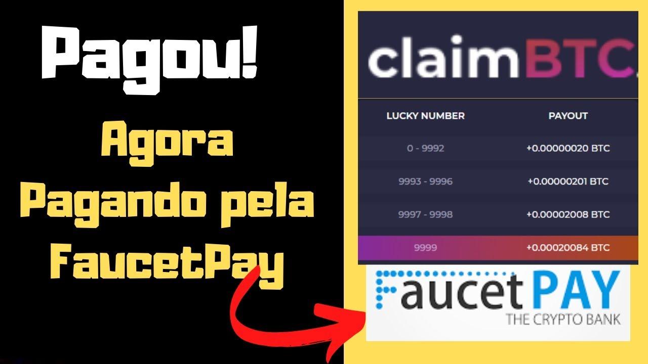 ClaimBTC Pagou! Atualização Agora pode sacar Pela FaucePay